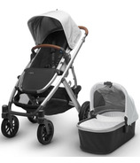 UPPAbaby Vista Stroller Loic White with Leather Accents