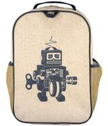 SoYoung Raw Linen Grey Robot Grade School Backpack