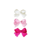 Baby Wisp Bowtastic Clips White