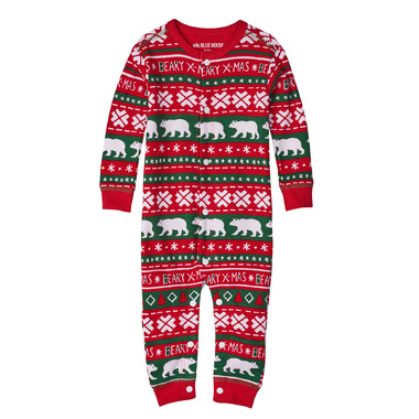 Hatley Baby Union Suit Beary Xmas