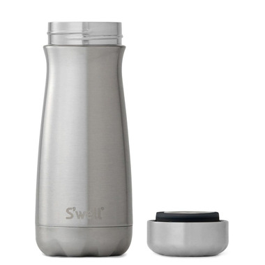 S\'well Traveler Stainless Steel Wide Mouth Bottle Silver Lining