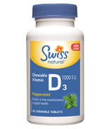 Swiss Natural Chewable Vitamin D3 1000 IU