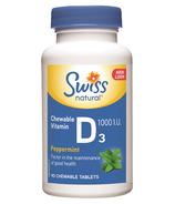 Swiss Natural Chewable Vitamin D3 1000 IU
