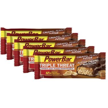 PowerBar Triple Threat Bars Caramel Peanut Fusion
