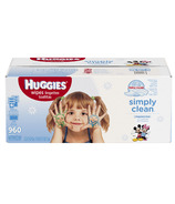 Huggies Simply Clean Fragrance Free Wipes