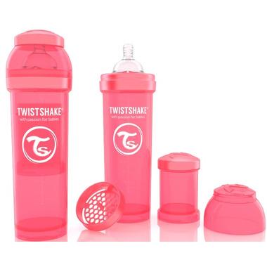 Twistshake Anti-Colic 330ml Bottle Peach