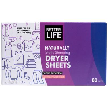 Better Life Dryer Sheets Lavender Grapefruit