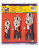 Genuine Joe Three-Piece Plier Set