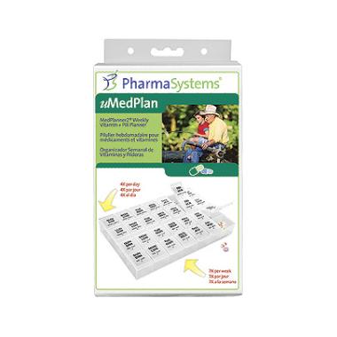 PharmaSystems MediPlanner2 Weekly Pill Vitamin Planner