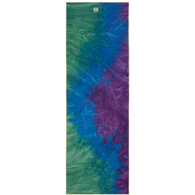 Manduka yogitoes Skidless Towels HandDyed Peacock Peacock