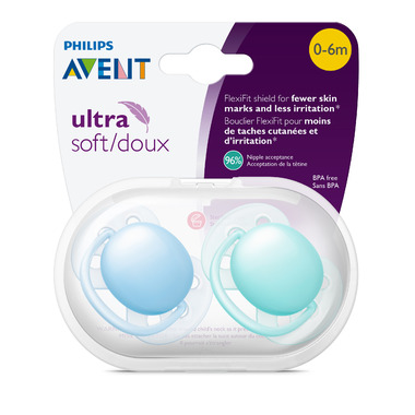 Philips Avent Ultra Soft Pacifier Blue/Teal
