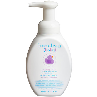Live Clean Baby Soothing Relief Foaming Wash