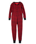 Hatley Red Buffalo Plaid Unisex Adult Union Suit