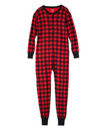 Little Blue House Red Buffalo Plaid Unisex Adult Union Suit