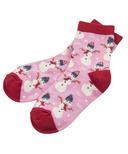 Little Blue House by Hatley Kids Socks Vintage Holiday Pink