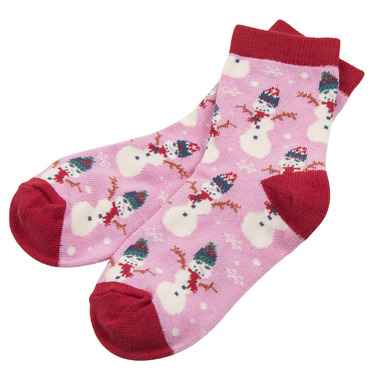 Hatley Kids Socks Vintage Holiday Pink