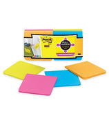 Post-it Super Sticky Full Adhesive Notes Bright Assorted Colours