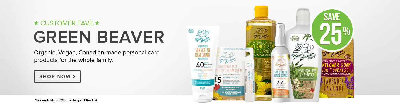 Save 25% on Green Beaver