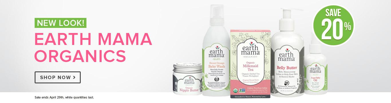 Save 20% off Earth Mama Organics