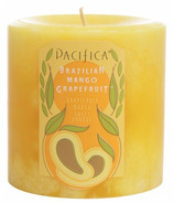 Pacifica Pillar Candle Brazilian Mango Grapefruit