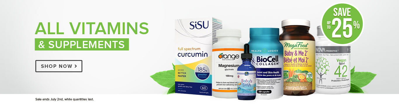 Save up to 25% on All Vitamins & Supplements