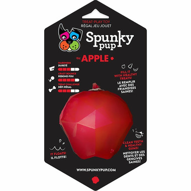 Spunky Pup Treat Holding Toy Apple