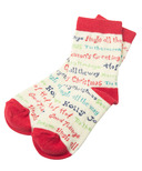 Little Blue House by Hatley Kids Socks Christmas Sayings
