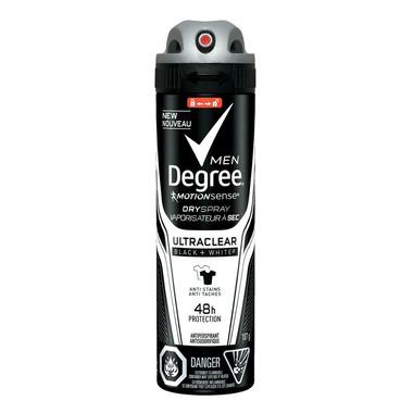 Degree Men UltraClear Black + White Antiperspirant Dry Spray