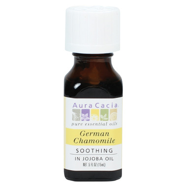 Aura Cacia German Chamomile Essential Oil Blended in Jojoba Oil