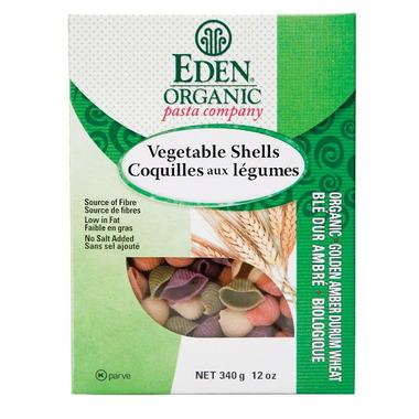 Eden Organic Golden Amber Durum Vegetable Shells Pasta