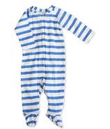 aden + anais Long Sleeve Zipper One-Piece Ultramarine Blazer Stripe