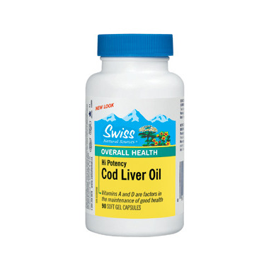 Swiss Natural Sources High Potency Cod Liver Oil Capsules