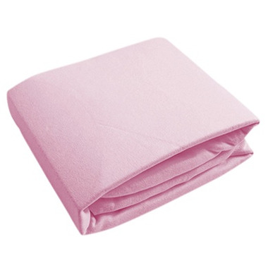Kushies Flannel Fitted Crib Sheet Pink