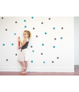 Trendy Peas Wall Decal Confetti Grey & Teal