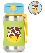 Skip Hop ZOO Stainless Steel Straw Bottle Giraffe