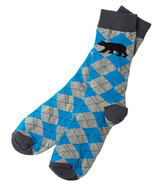 Hatley Men's Crew Socks Bear Argyle
