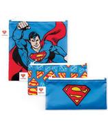 Bumkins DC Comics Trio Snack Bags Superman