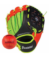 """Franklin Sports 9"""" Red Neo Grip Glove with Ball"""