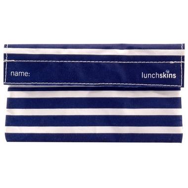 Lunchskins Navy Stripe Snack Bag
