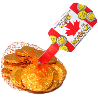 Canadian Milk Chocolate Coins
