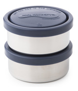 Kids Konserve Small Round Stainless Steel Containers in Ocean