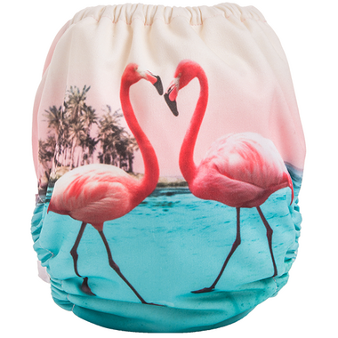 Funky Fluff Swim Diaper Flamingos