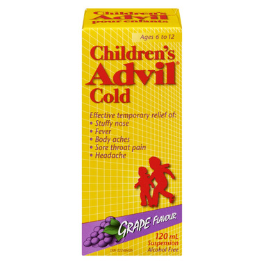 Advil Children\'s Cold Suspension Grape