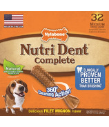 Nutri Dent Complete Dental Chews Filet Mignon Medium Sizr 32 Pack