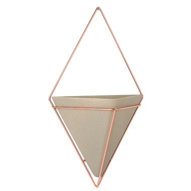 Umbra Trigg Wall Vessel Large Concrete/Copper