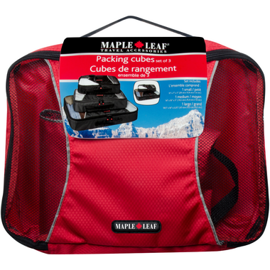Maple Leaf Travel Packing Cubes Set of 3