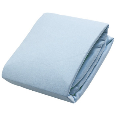 Kushies Flannel Fitted Crib Sheet Blue