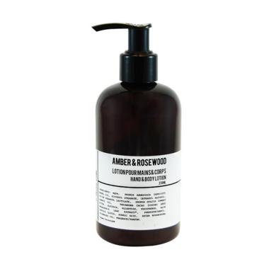 T. Lees Soap Co. Amber & Rosewood Hand & Body Lotion
