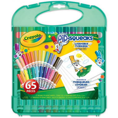 Crayola Pip Squeaks Washable Markers and Paper Set