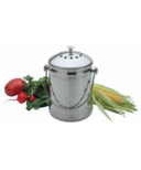 RSVP Stainless Steel Compost Pail